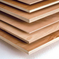 Plywood and sheet material